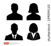 set of vector men and women... | Shutterstock .eps vector #199059110