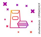 color line burger icon isolated ... | Shutterstock .eps vector #1990602419