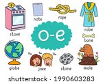 o e digraph spelling rule...   Shutterstock .eps vector #1990603283