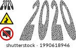 collage 2020 perspective digits ...   Shutterstock .eps vector #1990618946