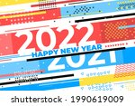 new year 2022 background....   Shutterstock .eps vector #1990619009