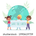 save planet. cartoon kids...   Shutterstock .eps vector #1990619759