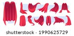 hero cape. red clothes textile... | Shutterstock .eps vector #1990625729