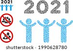 mosaic 2021 dancing people icon ...   Shutterstock .eps vector #1990628780