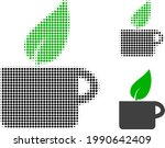herbal tea halftone dotted icon.... | Shutterstock .eps vector #1990642409