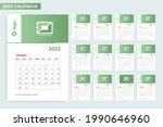 monthly calendar 2022 with frame | Shutterstock .eps vector #1990646960