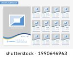 2022 monthly calendar design... | Shutterstock .eps vector #1990646963
