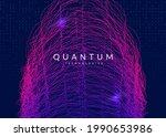 abstract tech visuals. digital... | Shutterstock .eps vector #1990653986