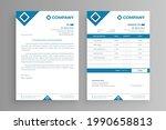 white invoice and letterhead... | Shutterstock .eps vector #1990658813