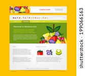 website design template  fruits ... | Shutterstock .eps vector #199066163