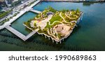 Little Island Park At Pier 55...
