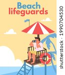 Beach Lifeguards Poster Or...
