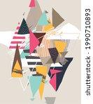 hand drawn art geometric... | Shutterstock .eps vector #1990710893
