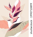 posters with elements of plants ... | Shutterstock .eps vector #1990710899