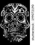 day of the dead sugar skull... | Shutterstock . vector #199072190