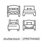 bed line icons set vector...   Shutterstock .eps vector #1990744460