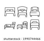 bed line icons set vector...   Shutterstock .eps vector #1990744466