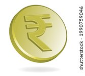 rupee gold coin  isolated on...   Shutterstock .eps vector #1990759046
