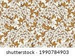 trendy seamless vector floral... | Shutterstock .eps vector #1990784903