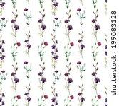 flowers  watercolor  violet | Shutterstock .eps vector #199083128