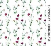 pattern  watercolor  flora | Shutterstock .eps vector #199083143