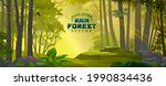 green lush forest covered with... | Shutterstock .eps vector #1990834436