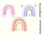 abstract vector rainbow set.... | Shutterstock .eps vector #1990872740