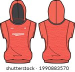 women sleeveless  hoodie... | Shutterstock .eps vector #1990883570