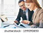 young businesswoman explaining... | Shutterstock . vector #199090850