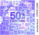 50  off sale vector banner...   Shutterstock .eps vector #1990911080