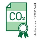 co2 emissions trading ets icon | Shutterstock .eps vector #1990916693