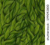 green pattern of leaves | Shutterstock .eps vector #199092800
