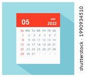 may 2022   calendar icon  ... | Shutterstock .eps vector #1990934510