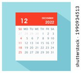 december 2022   calendar icon   ... | Shutterstock .eps vector #1990934513