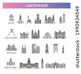 famous landmarks in south... | Shutterstock .eps vector #1990934549