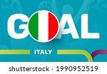 italy flag and slogan goal on... | Shutterstock .eps vector #1990952519