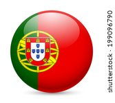 flag of portugal as round... | Shutterstock .eps vector #199096790