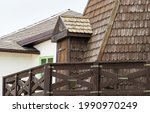 Close Up Of Wood Roof Details...