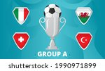group a of european football... | Shutterstock .eps vector #1990971899