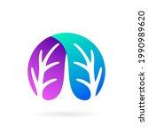 leaf aqua scape vector symbol | Shutterstock .eps vector #1990989620