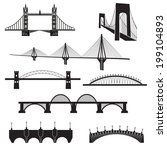 vector isolated bridges icons... | Shutterstock .eps vector #199104893