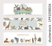 safari background collection... | Shutterstock .eps vector #1991058026