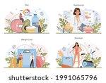 nutritionist concept set.... | Shutterstock .eps vector #1991065796