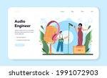 audio engineer web banner or... | Shutterstock .eps vector #1991072903