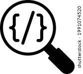 coding vector glyph flat icon   Shutterstock .eps vector #1991074520
