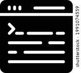 webpage vector glyph flat icon   Shutterstock .eps vector #1991074559