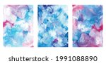 abstract blue watercolor...   Shutterstock .eps vector #1991088890