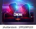 cinema cartoon web banner ...   Shutterstock .eps vector #1991089103