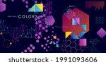 futuristic style horizontal... | Shutterstock .eps vector #1991093606