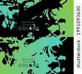 sea color artistic horizontal... | Shutterstock .eps vector #1991093630